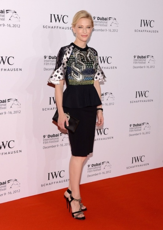 Cate Blanchett wearing the 'Carolina' Top at the IWC Schaffhausen Filmmaker Award Gala during the Dubai International Film Festival